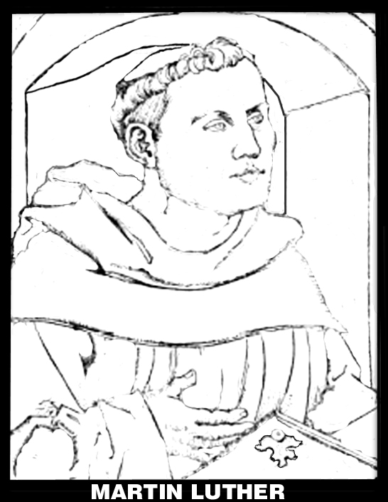 Martin luther is excommunicated for Martin luther coloring pages