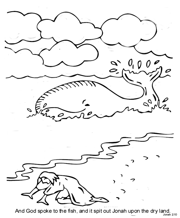 Free Jonah In The Fish Belly Coloring Pages