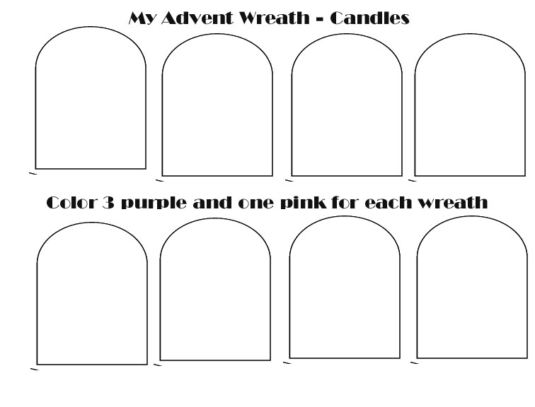 Advent Candles Coloring Activity Coloring Pages