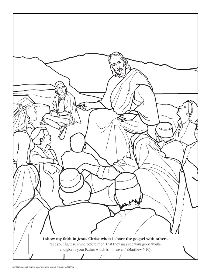 coloring pages beatitudes - photo#2