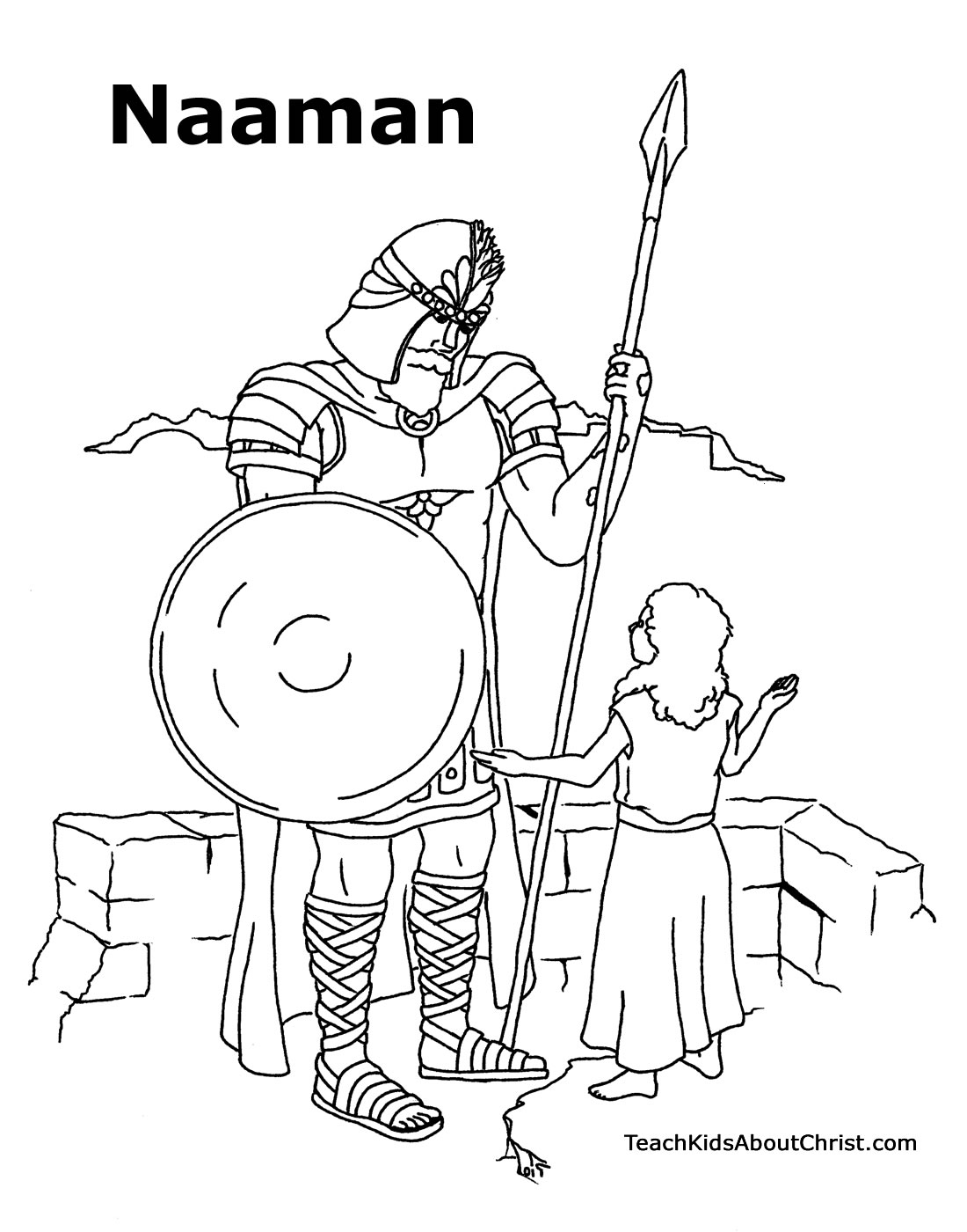 naaman and the servant girl coloring pages - photo #3