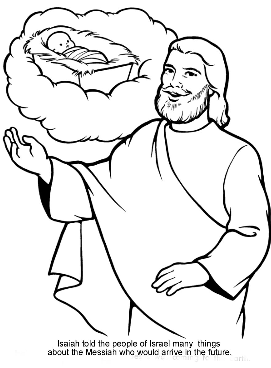 Bible coloring pages jesus birth